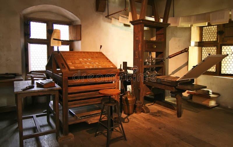 εκτύπωση εργοστασίων παραδοσιακή στοκ φωτογραφίες