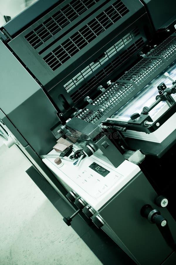 εκτύπωση όφσετ μηχανών στοκ εικόνες με δικαίωμα ελεύθερης χρήσης