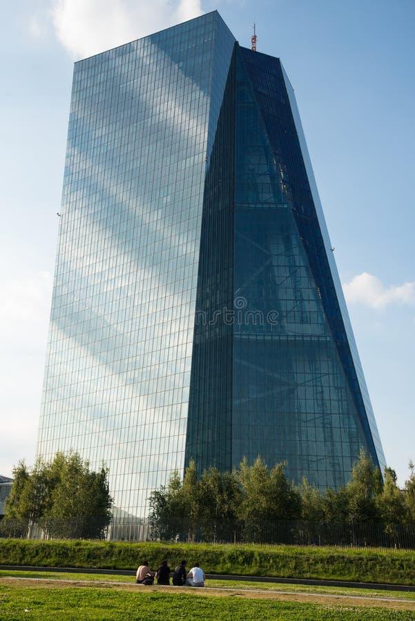 ΕΚΤ Ευρωπαϊκής Κεντρικής Τράπεζας στη Φρανκφούρτη στοκ εικόνες