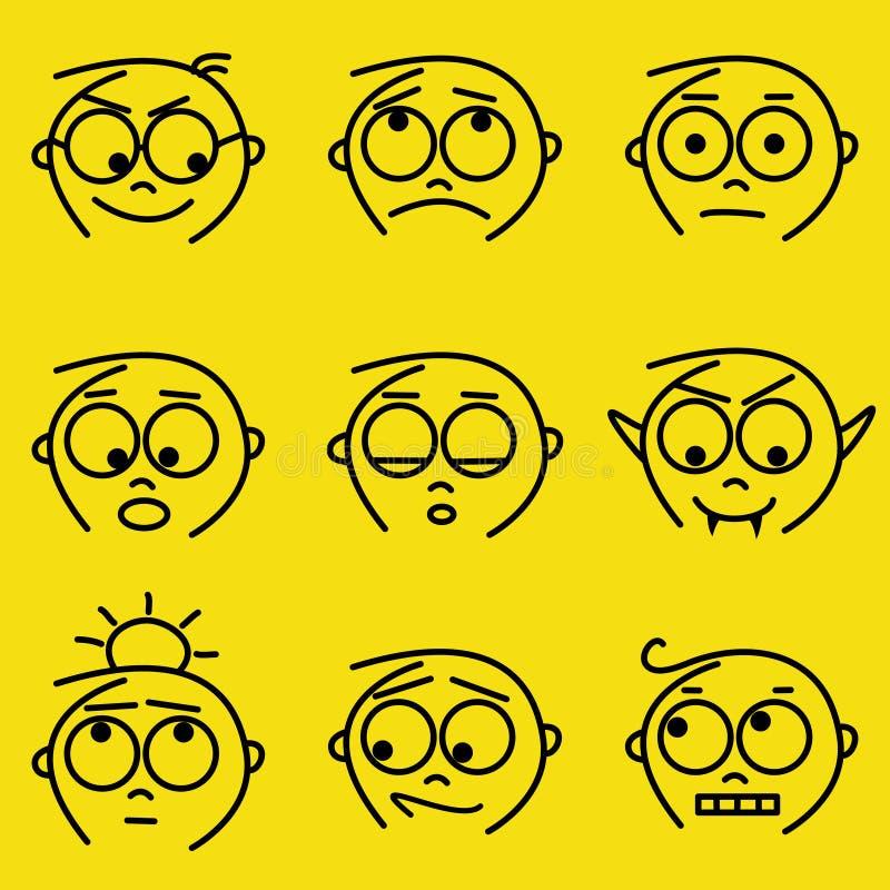 εκφράσεις του προσώπου απεικόνιση αποθεμάτων