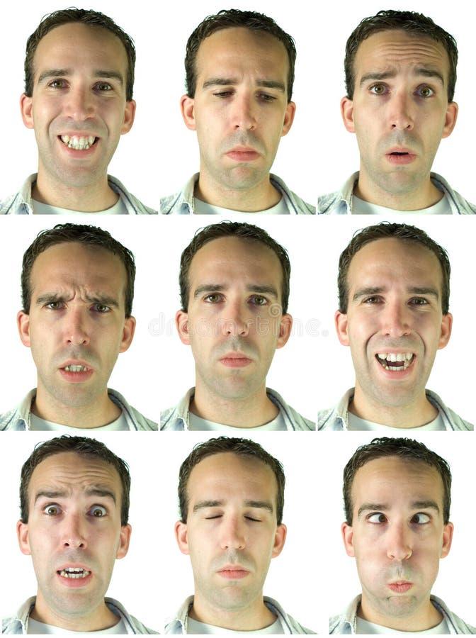 εκφράσεις του προσώπου στοκ εικόνες