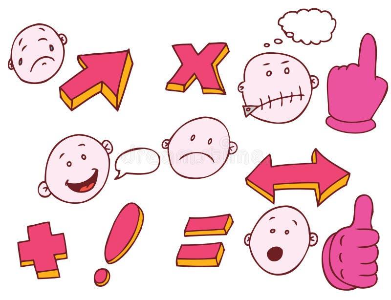εκφράσεις math διανυσματική απεικόνιση