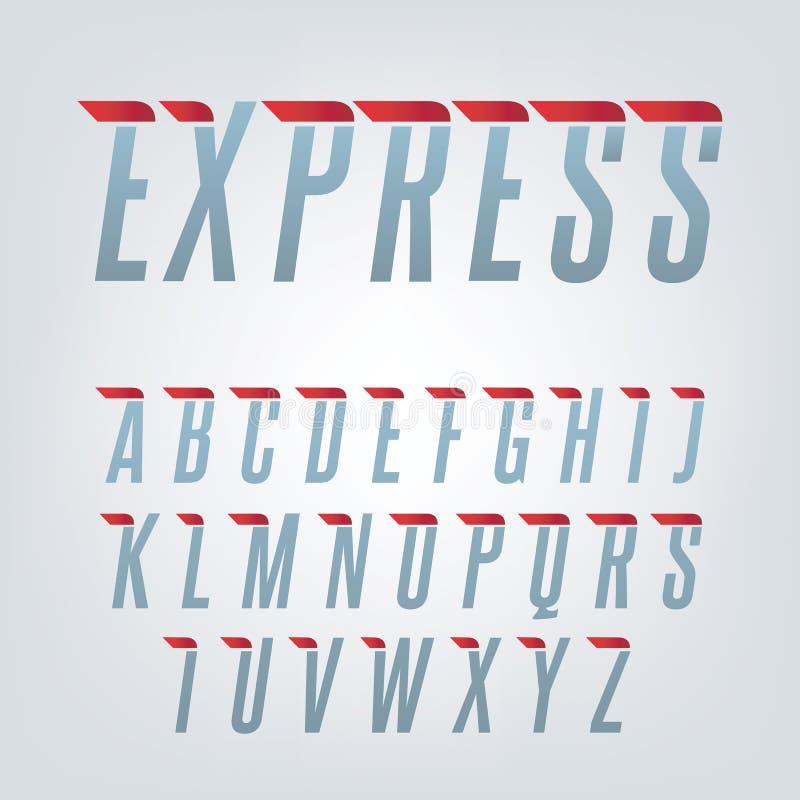 Εκφράστε το αγγλικό αλφάβητο ταχύτητας στοκ φωτογραφία