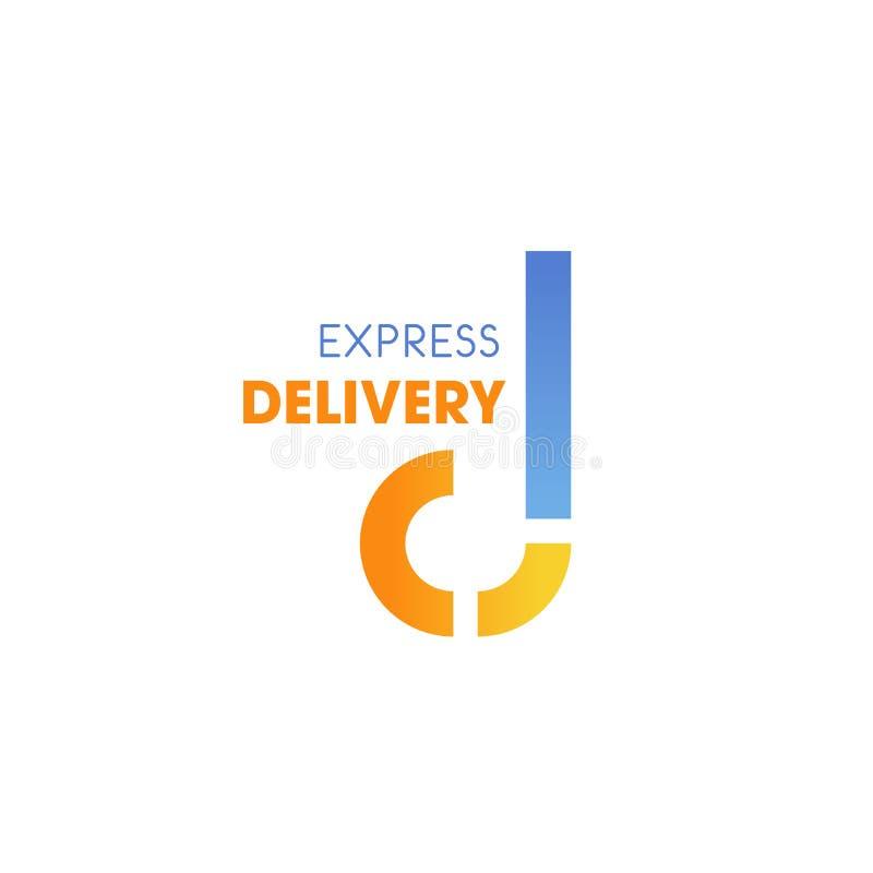 Εκφράστε το διανυσματικό εικονίδιο Δ επιστολών υπηρεσιών παράδοσης απεικόνιση αποθεμάτων
