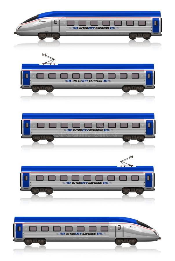 εκφράστε το intercity καθορισμέ&nu διανυσματική απεικόνιση