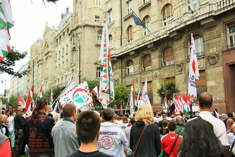Εκδήλωση Jobbik στη Βουδαπέστη, Ουγγαρία στοκ φωτογραφίες