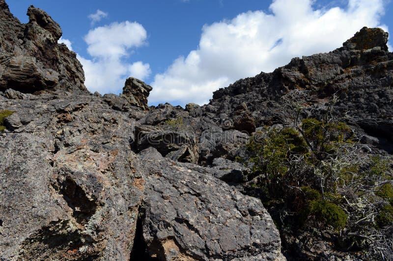 Εκλείψας ηφαίστειο η διανομή του διαβόλου στο εθνικό πάρκο Pali Aike στο νότο της Χιλής στοκ εικόνες με δικαίωμα ελεύθερης χρήσης