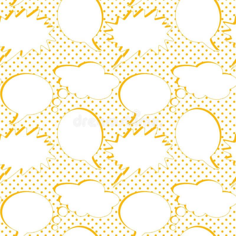 Εκλεκτής ποιότητας άνευ ραφής υπόβαθρο λεκτικών μπαλονιών απεικόνιση αποθεμάτων