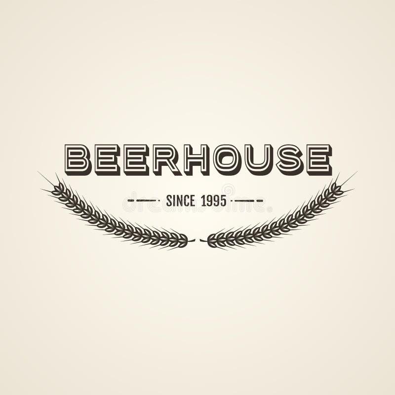 Εκλεκτής ποιότητας έμβλημα μπύρας ελεύθερη απεικόνιση δικαιώματος