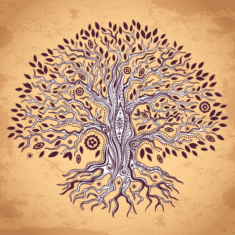 Εκλεκτής ποιότητας δέντρο της απεικόνισης ζωής ελεύθερη απεικόνιση δικαιώματος