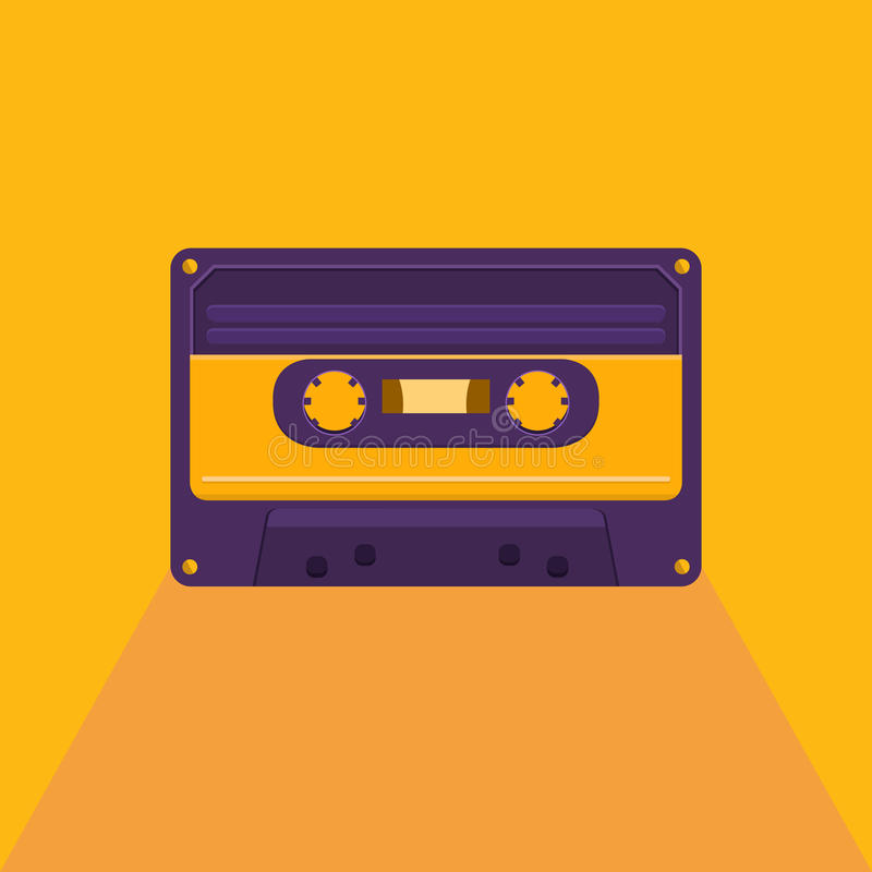 Εκλεκτής ποιότητας ακουστική κασέτα ελεύθερη απεικόνιση δικαιώματος