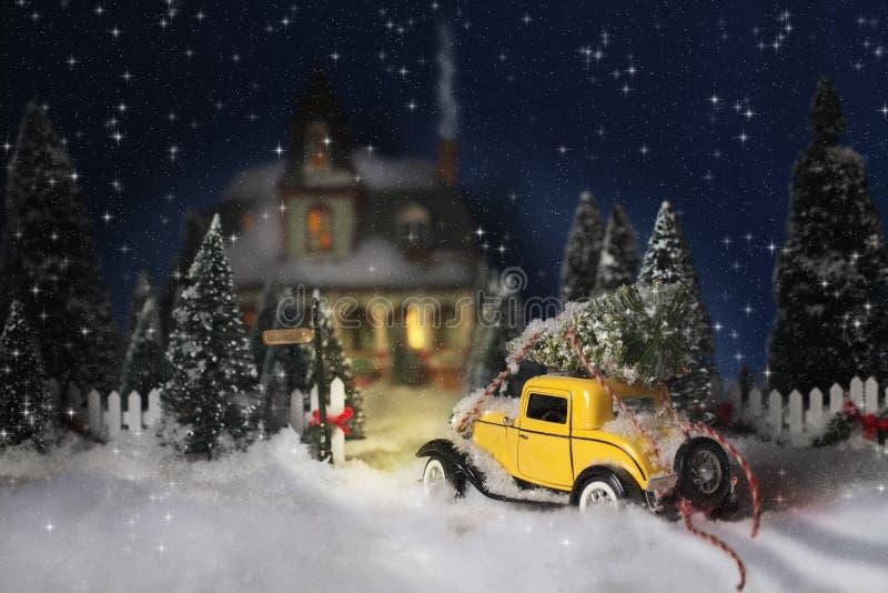 Εκλεκτής ποιότητας αυτοκινητικά Χριστούγεννα στοκ εικόνα