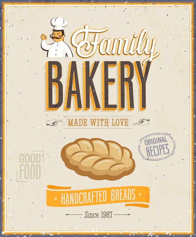 Εκλεκτής ποιότητας αφίσα αρτοποιείων. απεικόνιση αποθεμάτων