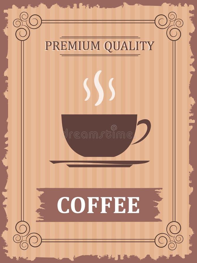 Εκλεκτής ποιότητας αφίσα καφέ στοκ εικόνες με δικαίωμα ελεύθερης χρήσης