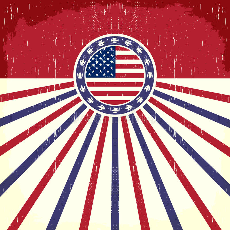 Εκλεκτής ποιότητας αφίσα σημαιών της Αμερικής ελεύθερη απεικόνιση δικαιώματος