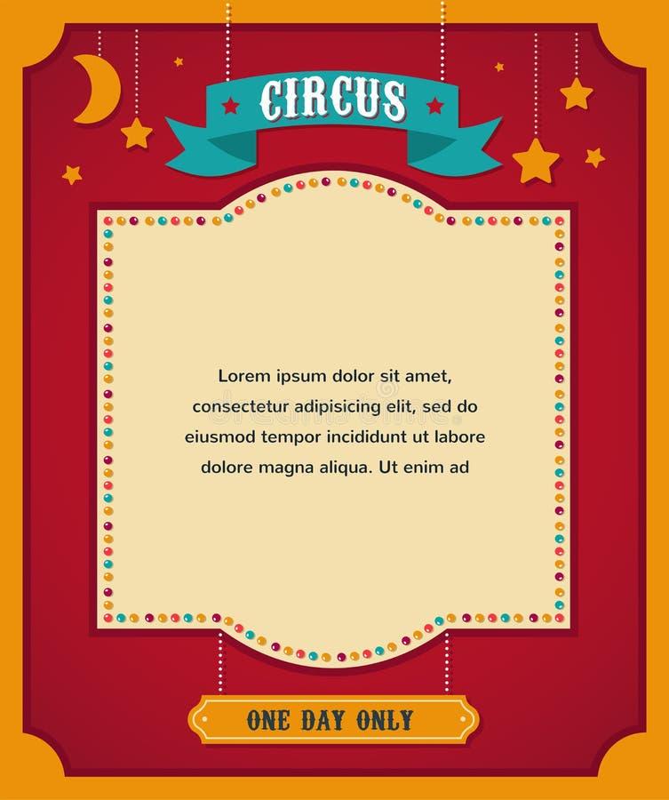 Εκλεκτής ποιότητας αφίσα τσίρκων, υπόβαθρο με καρναβάλι διανυσματική απεικόνιση