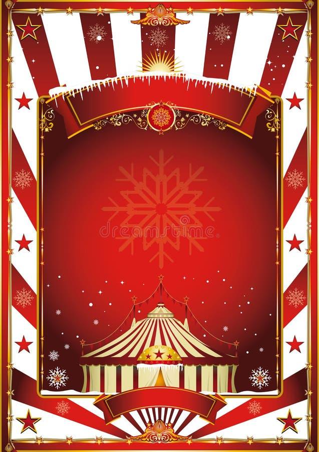 Εκλεκτής ποιότητας αφίσα τσίρκων Χριστουγέννων διανυσματική απεικόνιση