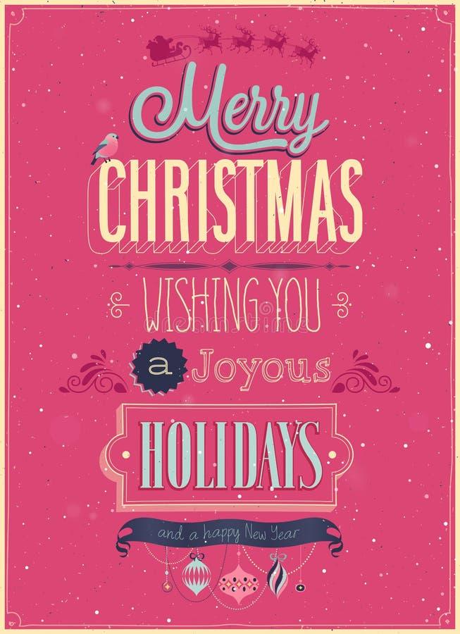 Εκλεκτής ποιότητας αφίσα Χριστουγέννων. διανυσματική απεικόνιση