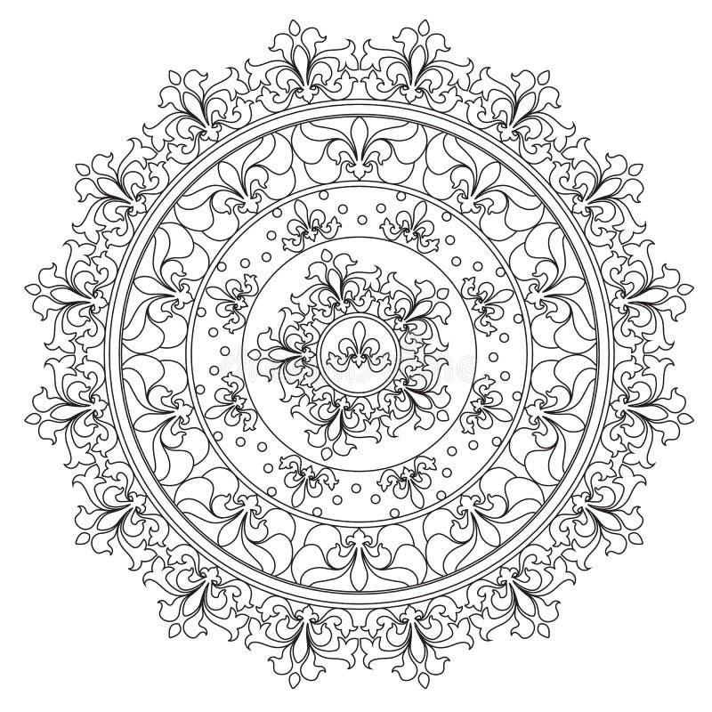 Εκλεκτής ποιότητας αφαίρεση Mandala χρωματισμού ελεύθερη απεικόνιση δικαιώματος