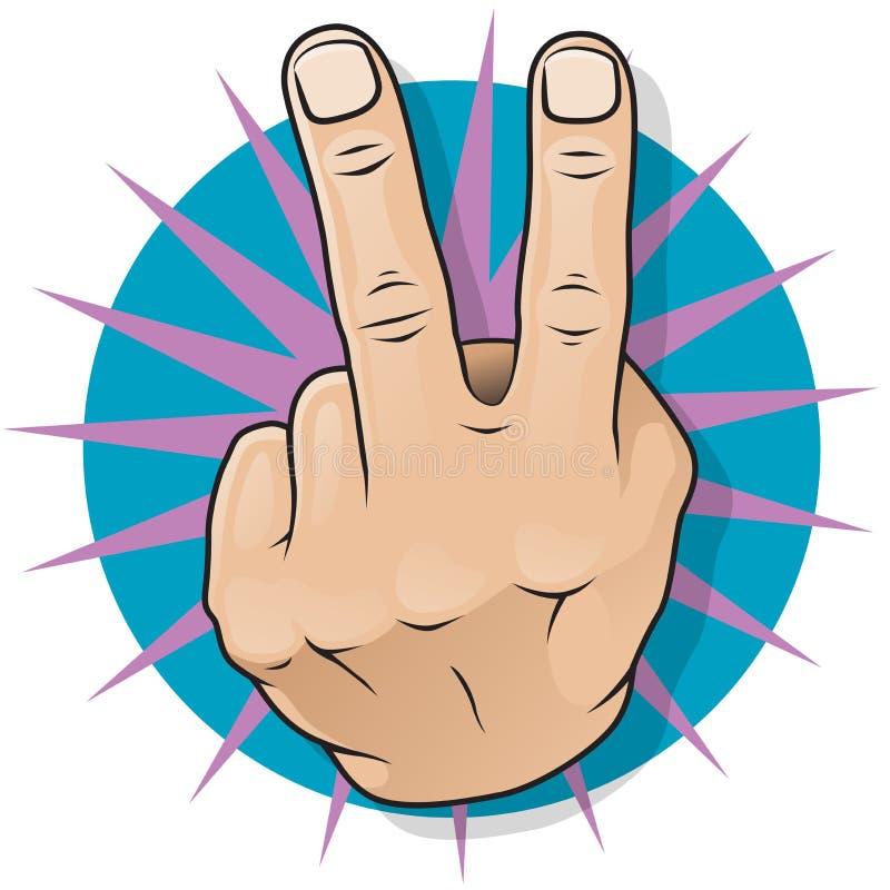 Εκλεκτής ποιότητας λαϊκό αρθ. δύο δάχτυλα επάνω στη χειρονομία. ελεύθερη απεικόνιση δικαιώματος