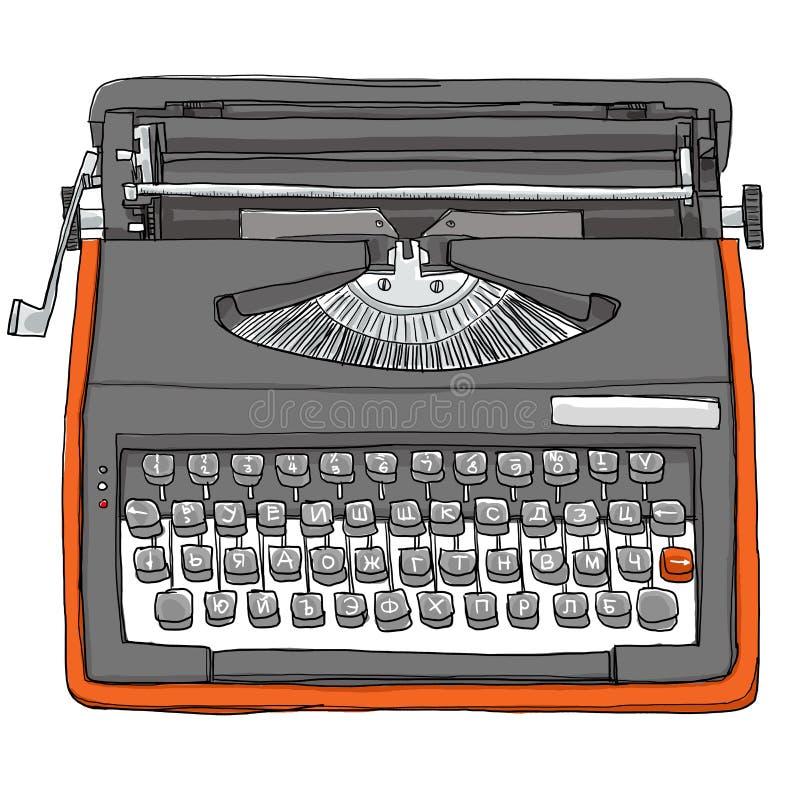 Εκλεκτής ποιότητας βουλγαρική χειρωνακτική γραφομηχανή ελεύθερη απεικόνιση δικαιώματος