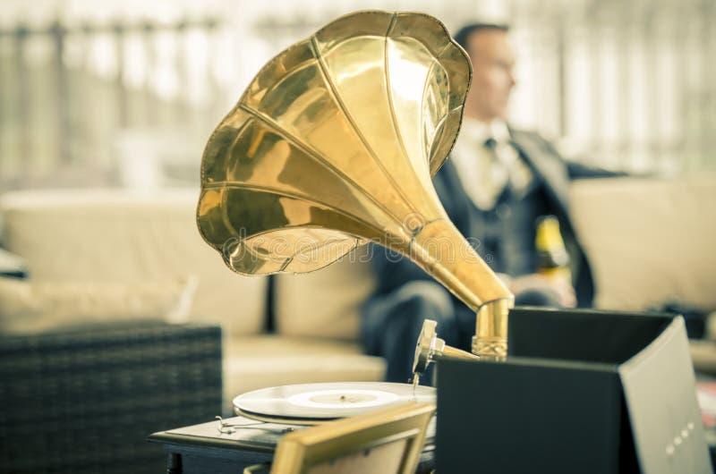 Εκλεκτής ποιότητας γαμήλιο gramaphone στοκ εικόνα
