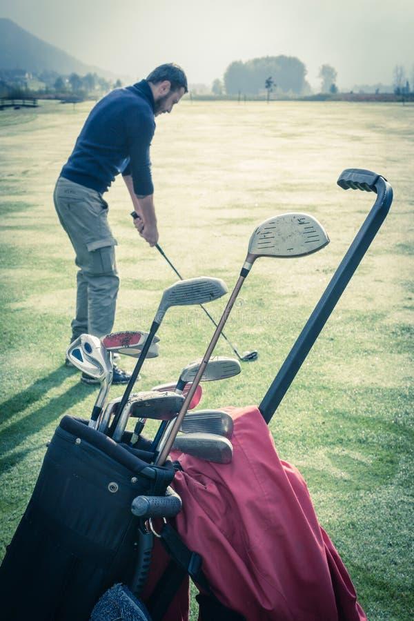 Εκλεκτής ποιότητας γκολφ στοκ εικόνες