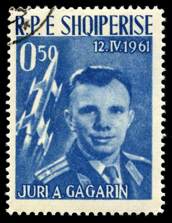 Εκλεκτής ποιότητας γραμματόσημο της Yuri Gagarin στοκ εικόνα με δικαίωμα ελεύθερης χρήσης