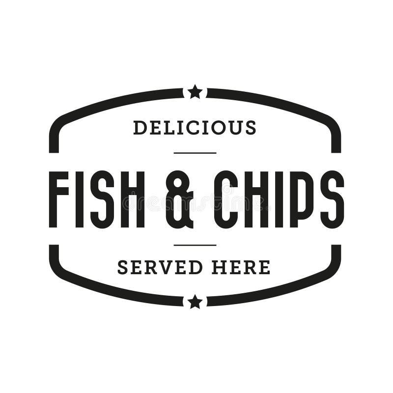 Εκλεκτής ποιότητας γραμματόσημο ψαριών και τσιπ ελεύθερη απεικόνιση δικαιώματος