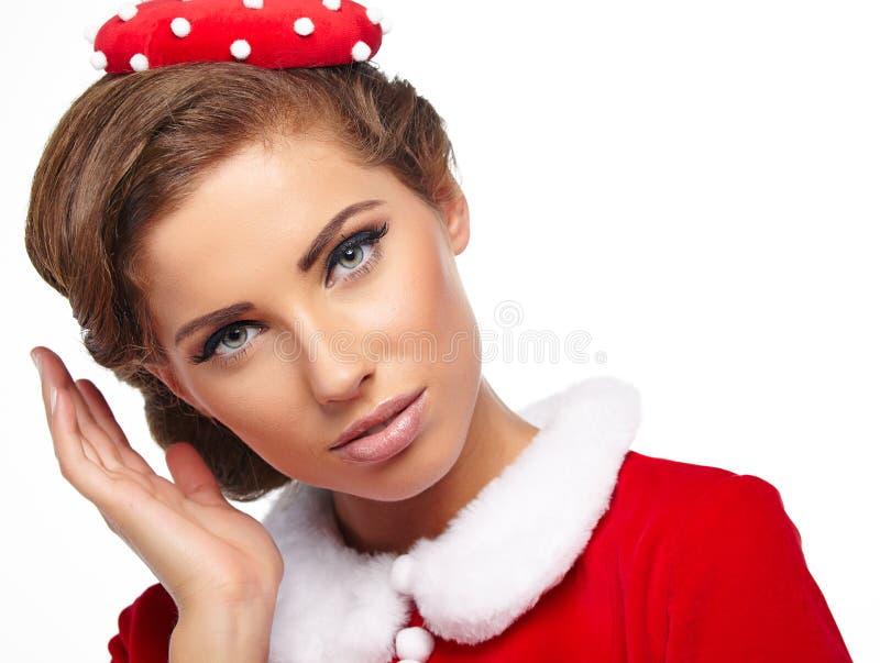 Εκλεκτής ποιότητας γυναίκα Χριστουγέννων στοκ φωτογραφία