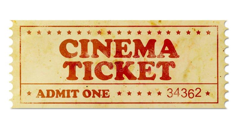 Εκλεκτής ποιότητας εισιτήριο κινηματογράφων στοκ εικόνες