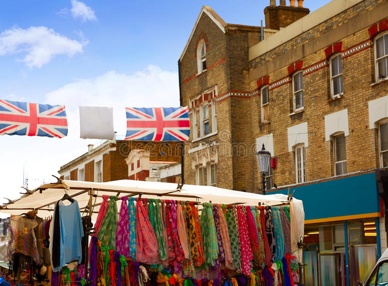 Εκλεκτής ποιότητας ενίσχυση οδικής αγοράς του Λονδίνου Portobello στο UK στοκ φωτογραφίες
