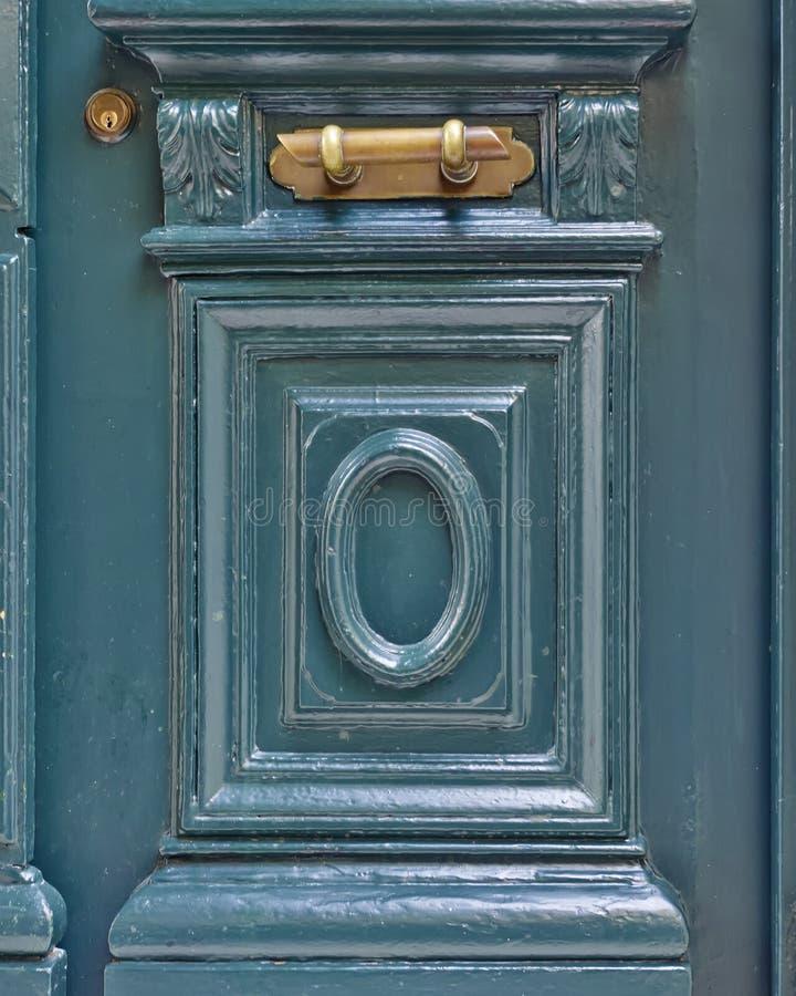 Εκλεκτής ποιότητας λεπτομέρεια πορτών σπιτιών πράσινη στοκ φωτογραφία με δικαίωμα ελεύθερης χρήσης