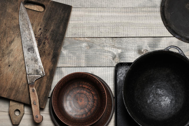 Εκλεκτής ποιότητας εργαλεία κουζινών στοκ φωτογραφία με δικαίωμα ελεύθερης χρήσης