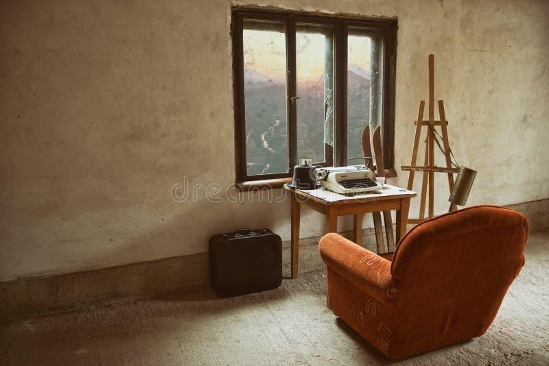 Εκλεκτής ποιότητας εσωτερικό δωμάτιο στοκ φωτογραφίες