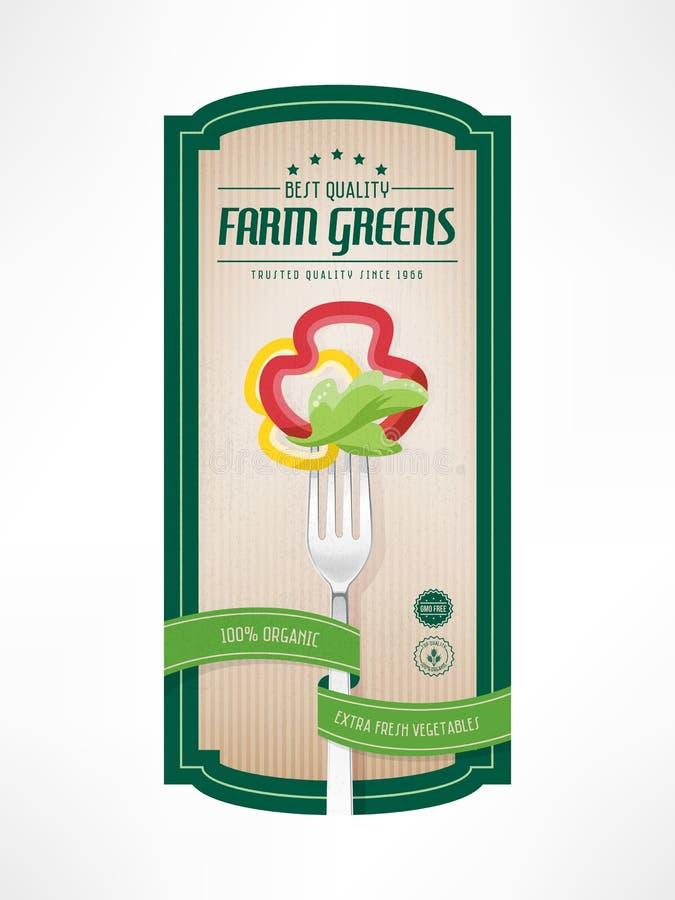 Εκλεκτής ποιότητας ετικέτα τροφίμων διανυσματική απεικόνιση