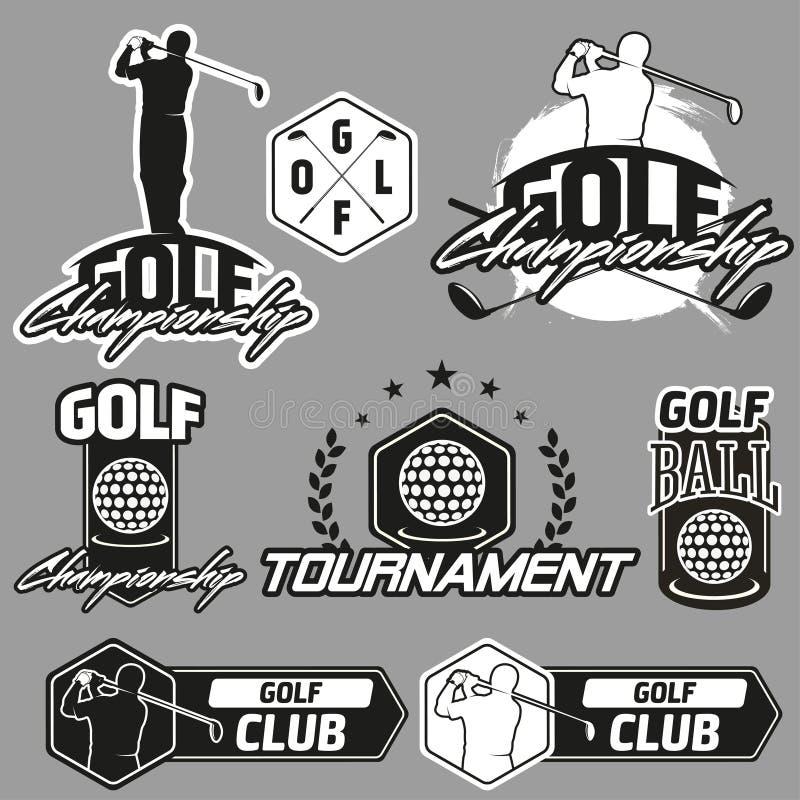 Εκλεκτής ποιότητας ετικέτες, διακριτικά και εμβλήματα γκολφ απεικόνιση αποθεμάτων