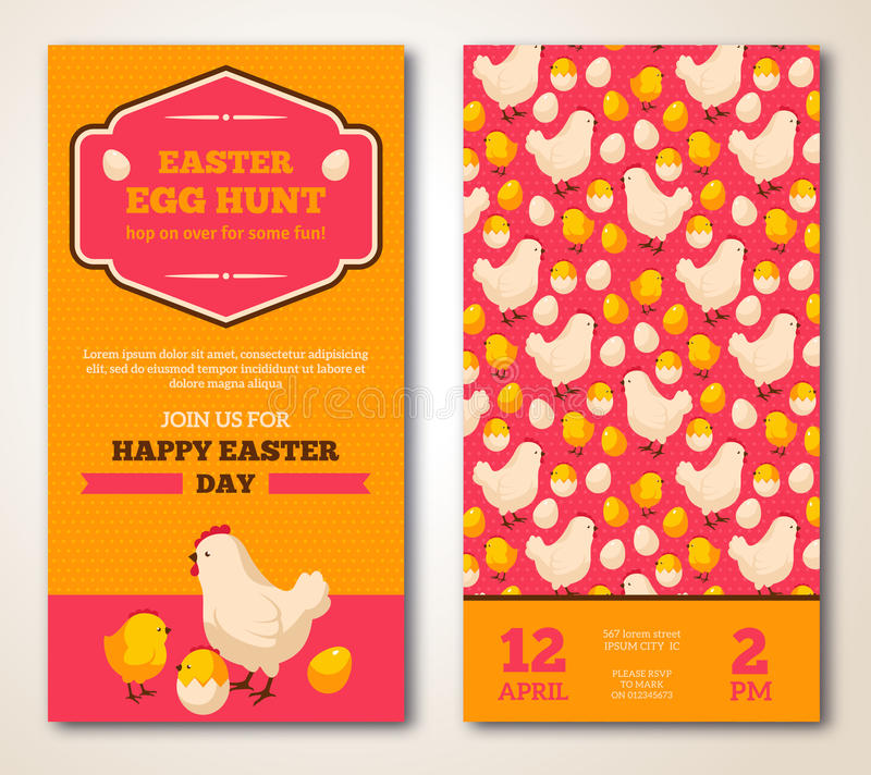 Εκλεκτής ποιότητας ευτυχές σχέδιο ευχετήριων καρτών Πάσχας απεικόνιση αποθεμάτων