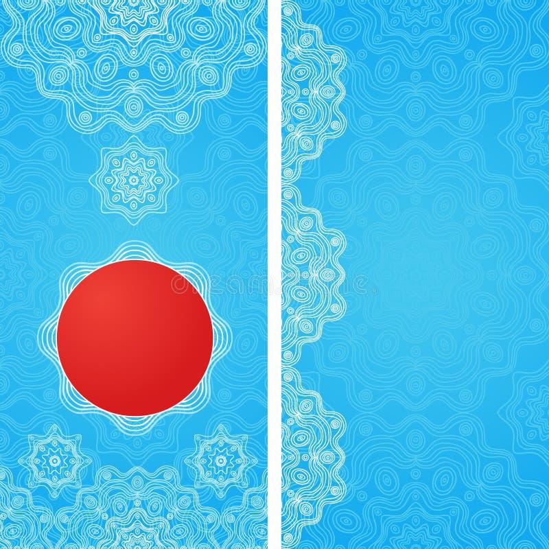 Εκλεκτής ποιότητας ευχετήριες κάρτες με τα floral μοτίβα στο ανατολικό ύφος ελεύθερη απεικόνιση δικαιώματος