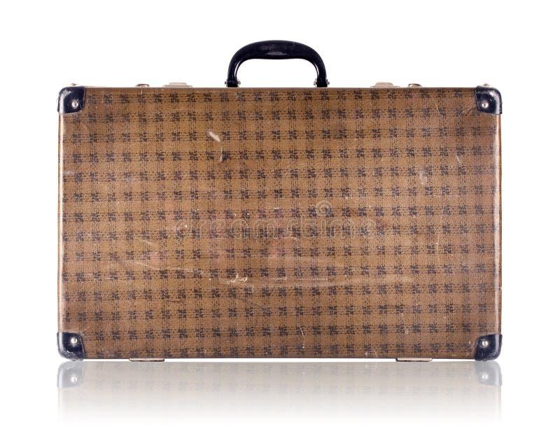 Εκλεκτής ποιότητας ελεγμένη βαλίτσα στοκ εικόνες