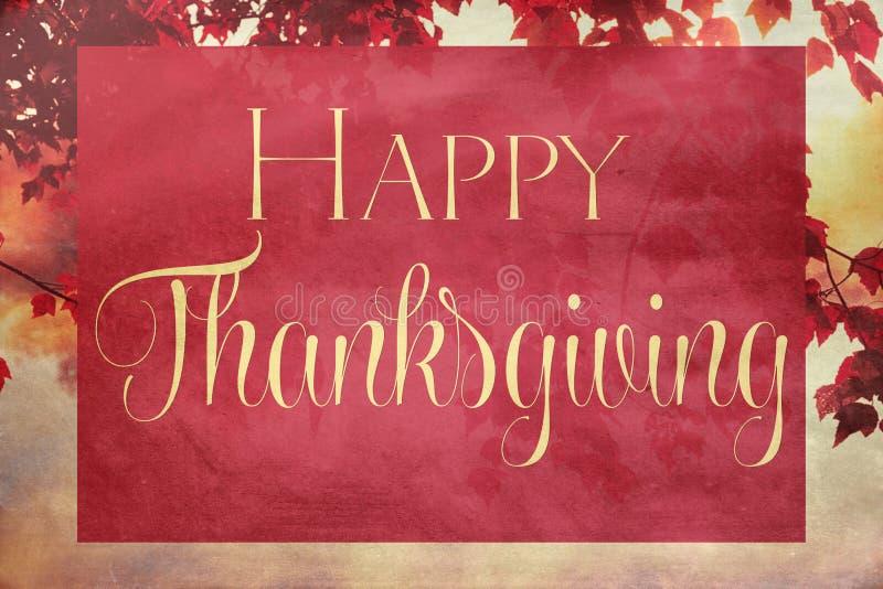 Εκλεκτής ποιότητας ημέρα των ευχαριστιών στοκ εικόνες με δικαίωμα ελεύθερης χρήσης