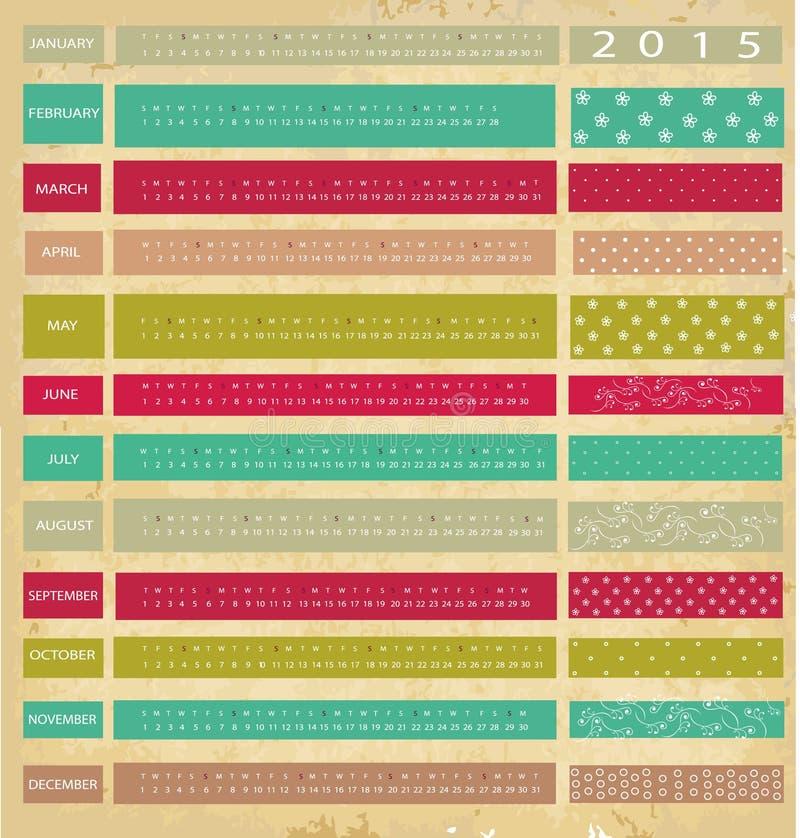 Εκλεκτής ποιότητας ημερολόγιο για το 2015 απεικόνιση αποθεμάτων