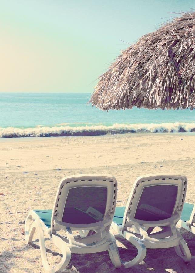 Εκλεκτής ποιότητας θερινή παραλία στοκ εικόνες