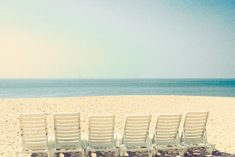 Εκλεκτής ποιότητας θερινή παραλία στοκ εικόνα με δικαίωμα ελεύθερης χρήσης