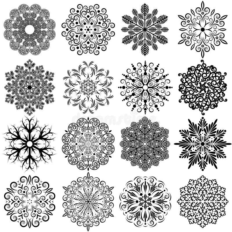 Εκλεκτής ποιότητας διακοσμητικά Snowflakes ελεύθερη απεικόνιση δικαιώματος