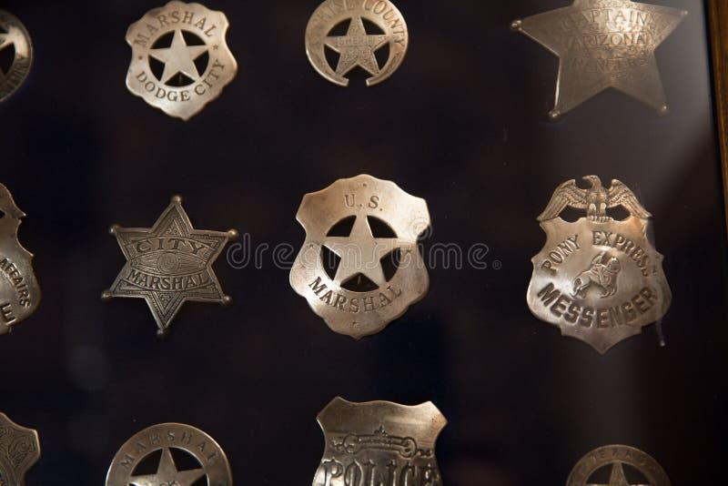 Εκλεκτής ποιότητας διακριτικά αστυνομίας στοκ εικόνες
