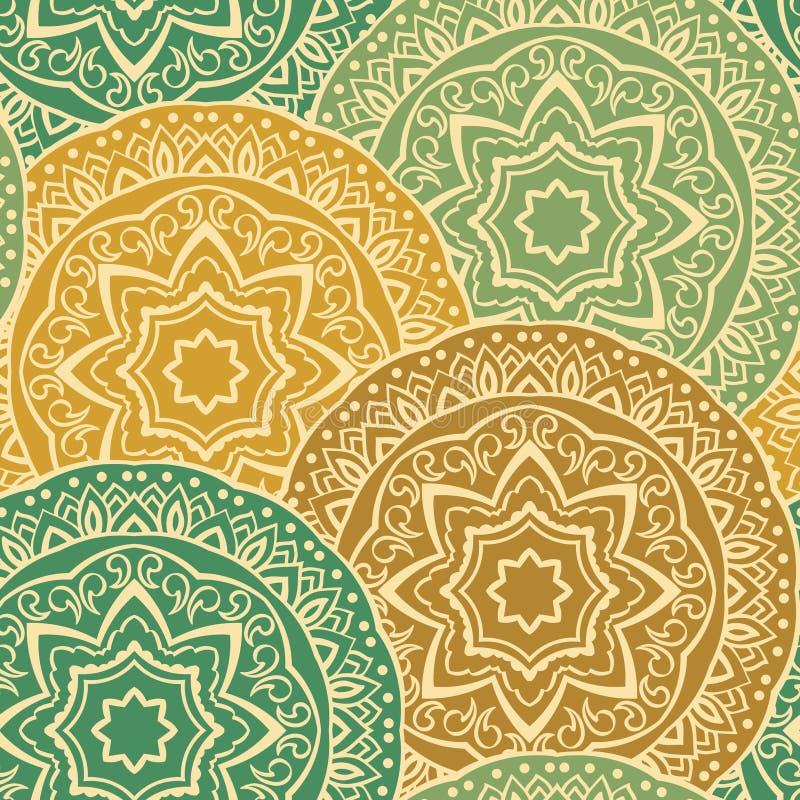 Εκλεκτής ποιότητας διακόσμηση των mandalas απεικόνιση αποθεμάτων
