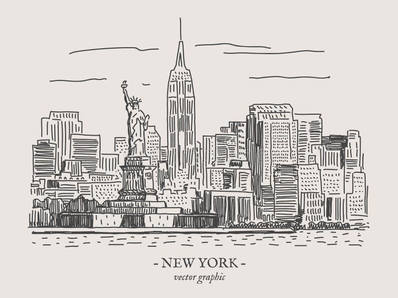 Εκλεκτής ποιότητας διανυσματική απεικόνιση της Νέας Υόρκης ελεύθερη απεικόνιση δικαιώματος