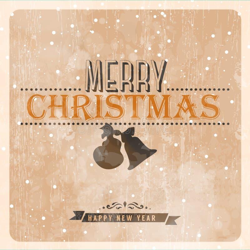 Εκλεκτής ποιότητας διανυσματική κάρτα Χριστουγέννων ελεύθερη απεικόνιση δικαιώματος