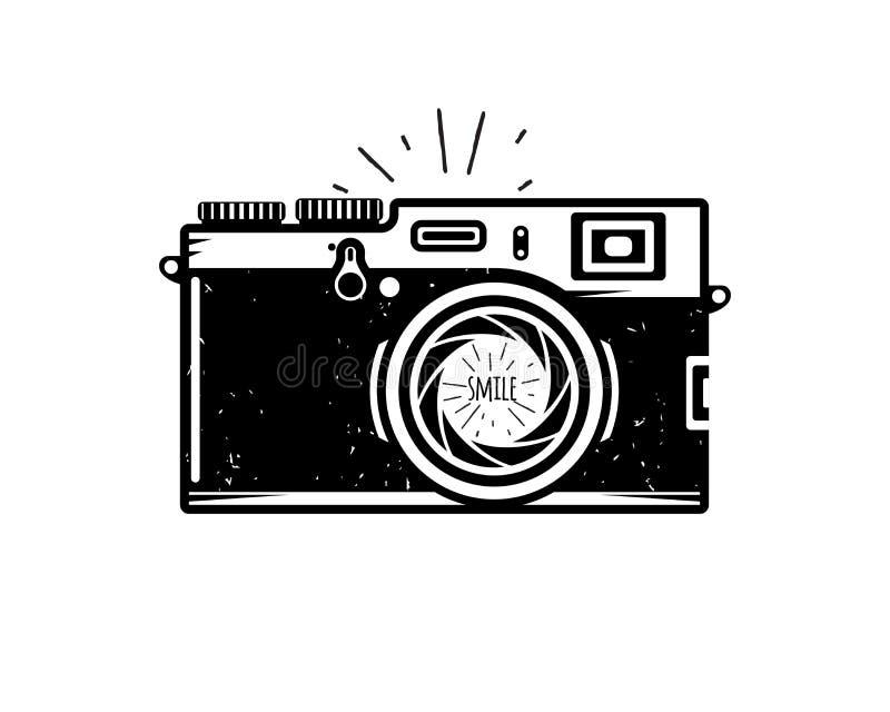 Εκλεκτής ποιότητας κάμερα φωτογραφιών διανυσματική απεικόνιση